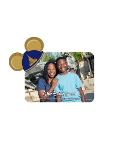 50th Anniversary Blue Castle Logo Mickey Ears Magnet