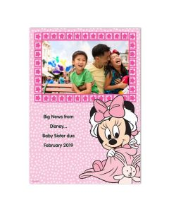 Minnie Mouse Baby Card