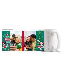 Mickey & Minnie Happy Hollydays Engraved Walt Disney World 20oz Mug