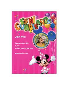 Es Mi Cumpleaños Pink Photo Card