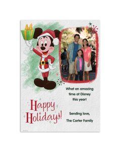Mickey Mouse Retro Happy Holidays Card
