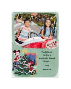 Mickey & Minnie Retro Happy Holidays Card