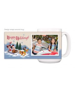 Happy Holidays Retro Mug