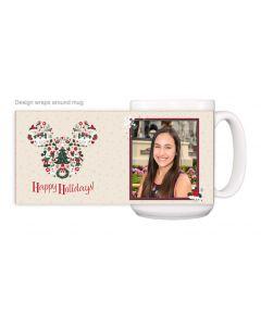 Mickey Head Happy Holidays Mug