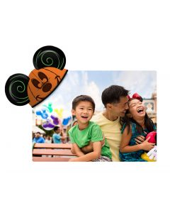 Pumpkin Mickey Ears Coaster