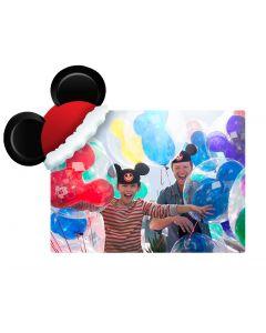 Santa Hat Mickey Ears Coaster