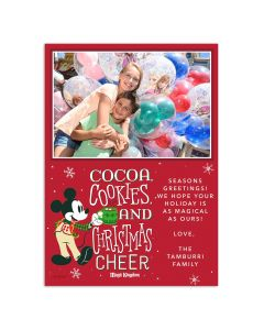 Mickey's Very Merry Christmas Party Cocoa Card
