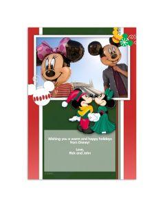 Disney Mickey & Minnie Holiday Card