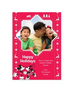 Red & White Happy Holidays Card